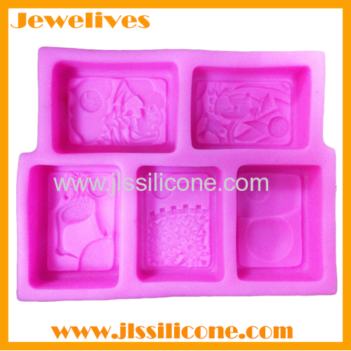 silicone soap mold 6 cavities