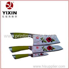 Strong adhesive hot stamping film for stainless steel kitchen knife