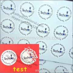 dia2cm round tamper evident labels