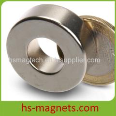 N35M to N50M Nickel Coating Ring Magnet