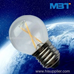 Led filament light globals