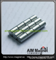 Sintered ndfeb magnetic round d8 x 10mm
