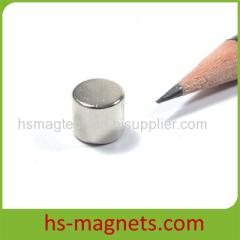 Ni-Cu-Ni Coated Cylinder Sintered NdFeB magnets