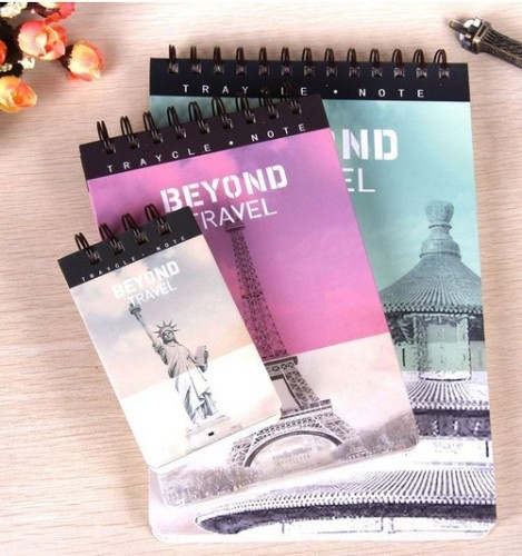 top open spiral A5 ruled notepad