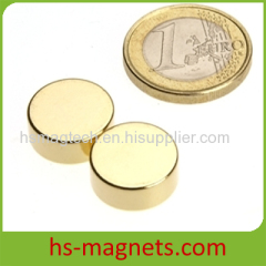 Golden Coating Permanent Magnet Disc