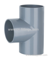 upvc equal tee pipe fittings