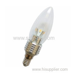 hot sell 3w led flame candle bulb light aluminum housing