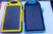 NEW 5000mAh Solar Charger Portable Waterproof Dual USB LED Backup External Panel Power Bank for iPad iPhone 5s Samsung H