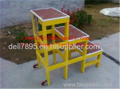 Single step extension FRP ladder Easy handing fiberglass foldable ladder