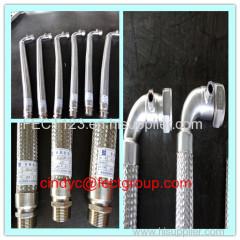 SS flexible metal hose assemblies