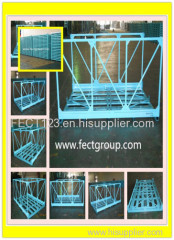 Durable metal pallet container for rack and assembly line/metal stackable bin