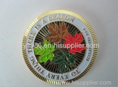 Soft Enamel Gold Coin