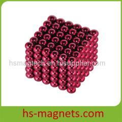 Red Coating 5MM Sphere Rare Earth Neodymium Magnetic Neocube