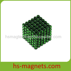 Green Coating Sintered Neodymium Iron Boron Ball Magnets