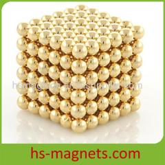 Sintered Neodymium 216 Balls Neocube Zenballs Buckyballs Gold Coating