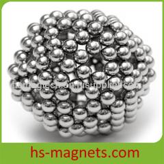 Ni-Cu-Ni Coating Permanent Sphere Ball Neodymium Magnet
