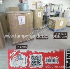 Ultra Destructive Vinyl Materials From Shenzhen Minrui Destructible vinyl From China