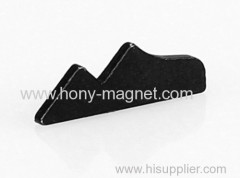 Black epoxy coating bonded neodymium magnet