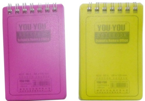PP Cover pocket spiral mini notepad