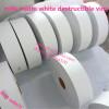 ultra destructible self adhesive rolls