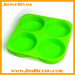 silicone ice cube mold 4cavities pie cup