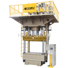 Four-column High Speed Deep Drawing Hydraulic Press 1600 Ton Horizontal Four-Column Hydraulic Press For Molding Blanking