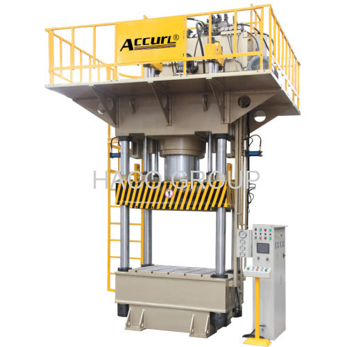 1250 Tons Four Pillar Stretching Hydraulic Press Machine For Making Aluminum Pots and Pans Good Price