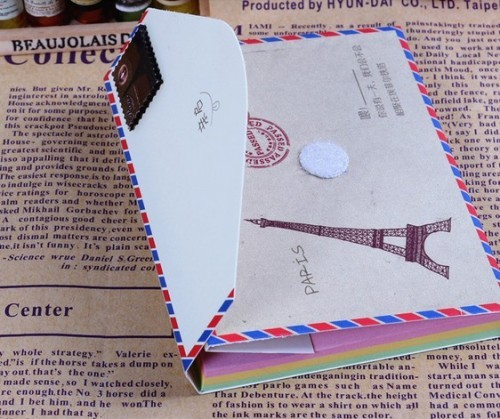envelope folder notebook diary