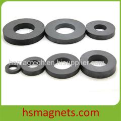High Performance Hard Sintered Ferrite Strontium Ring Magnet