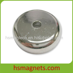 High Grade Rare Earth Sintered Permanent Countersunk Pot Magnet