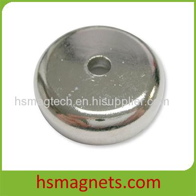 High Grade Rare Earth Sintered Permanent Countersunk Pot Magnet