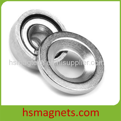 Pot Neodymium Magnet With Countersunk Screw Hole