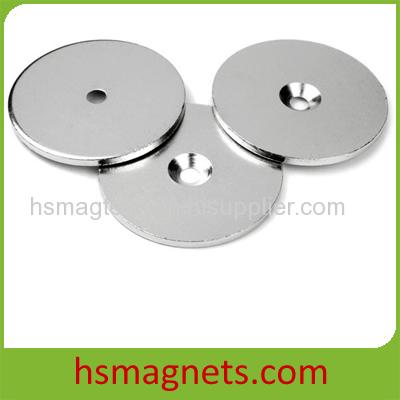 Ni-Cu-Ni Plated N42 Rare Earth Neodymium Countersunk Pot Cup Magnets