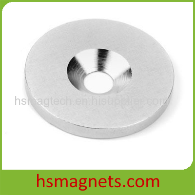 Round Cup Shape Strong Countersunk Hole NdFeB Magnet