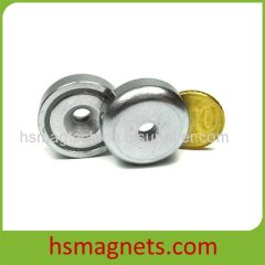 Sintered Neodymium-Iron-Boron Nickel (Ni/Cu/Ni) Coating Countersunk Magnet