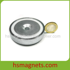 N42 Sintered Countersunk Pot Magnet for Sale