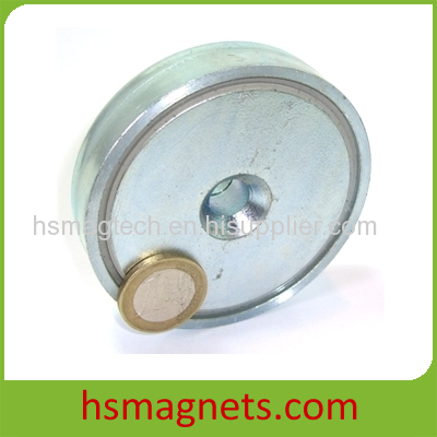 Zinc Coating NdFeB Permanent Countersunk Pot Magnet