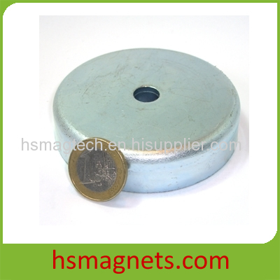 Zinc Plated Large Sintered Countersunk Neodymium N40 Magnets