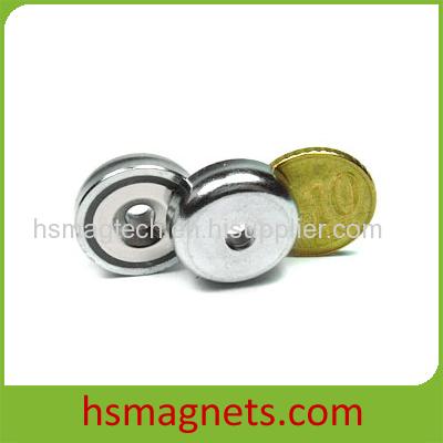 Strong Sintered Neodymium Countersunk Pot Magnet