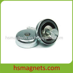 High Grade Rare Earth Sintered Neodymium Countersunk Pot Magnets