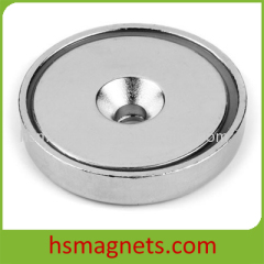 Large Huge Countersunk Neodymium Rare Earth Pot Magnet