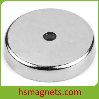 Large Pot Magnets Magnetic Assembly With Countersunk Hole
