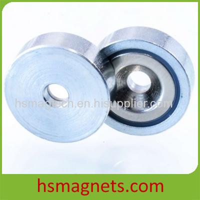 Zinc Coating Rare Earth Neodymium Countersunk Pot Magnet