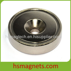 Rare Earth Permanent Neodymium Pot Magnet With Countersink hole