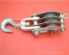 Double wheel hook pulley tripe wheel link pulley tripe wheel hook pulley