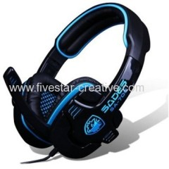 Sades SA708 Cool Stereo Wired Hi-Fi Pro Game Over-Ear Headset with Built-in Mic