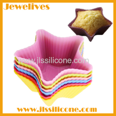 silicone cake cup mold star shape