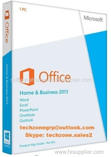 Office 2013 Home And Business PKC 100% Genuine Product Key