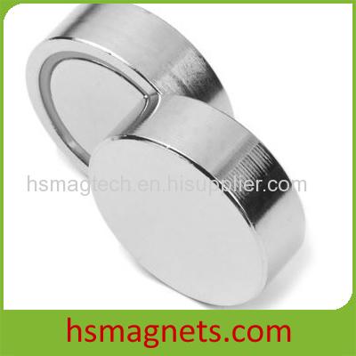 Round Base NdFeB Flat Pot Magnets