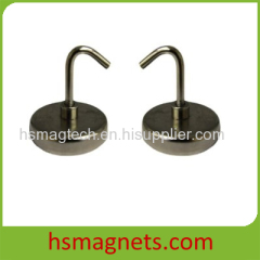 Sintered NdFeB Pot Magnet With Hook